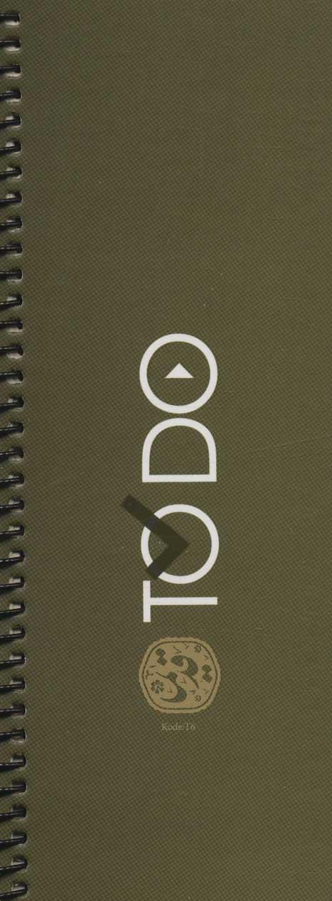دفتر یادداشت دخل و خرج قدیما کد T6 (طرح TO DO)،(سیمی)