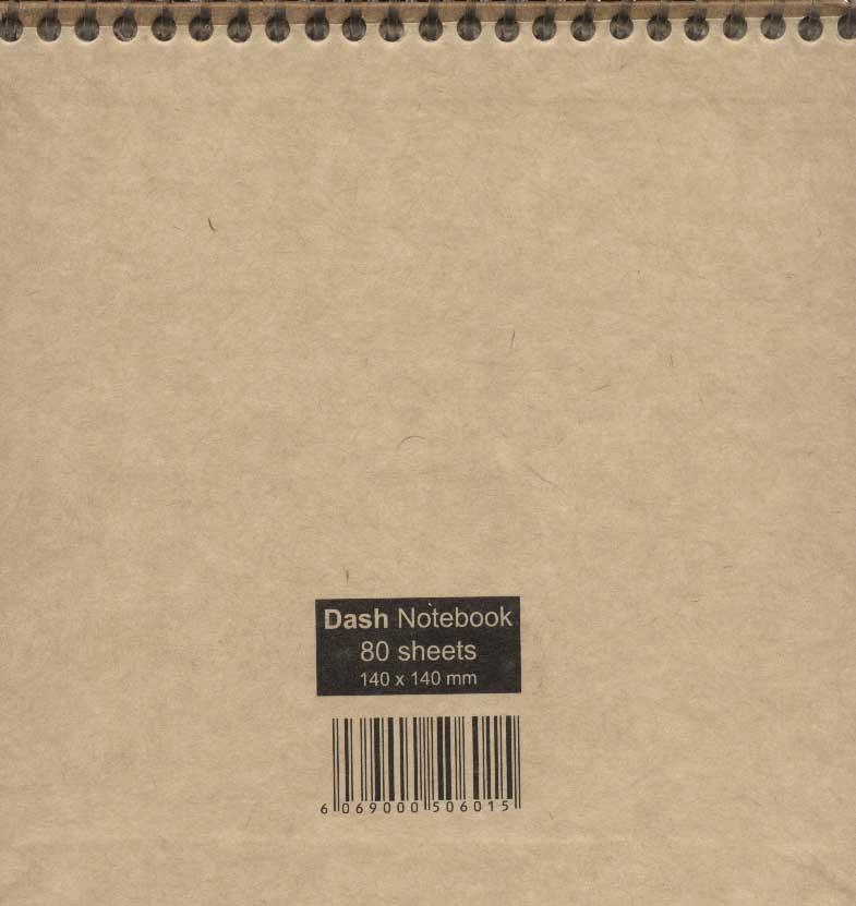 دفتر یادداشت نقطه ای گذران 80 برگ (2طرح،کد 015)،(کاغذ نخودی،سیمی)