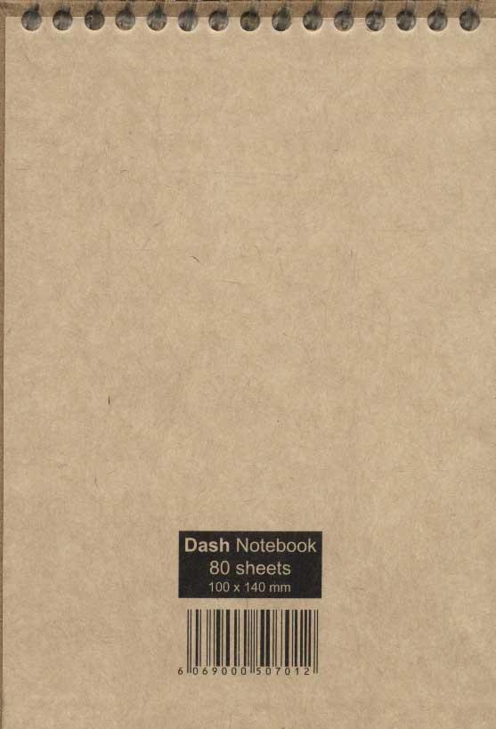 دفتر یادداشت خط دار گذران 80 برگ (2طرح،کد 012)،(کاغذ نخودی،سیمی)